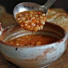 Navy Bean and Bacon Soup