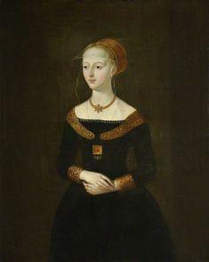 Elizabeth Wydville, wife of Edward IV, maternal Grandmother of Henry VIII, portrait  Queen's College, Cambridge.