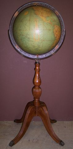 12 inch Library Globe, Globe Maker: Replogle Globes, Inc. (Published: 1937 Chicago)