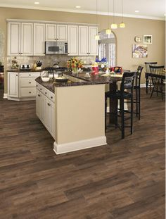 Trafficmaster Allure Ultra Wide 8 7 In X 47 6 In Gunstock Hickory Resilient Vinyl Plank