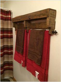 15 Cool DIY Towel Holder Ideas for Your Bathroom 4