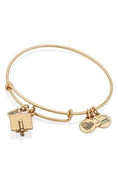 Every 2016 graduate will love this gold Alex and Ani bracelet that is perfect for commemorating a big academic milestone.