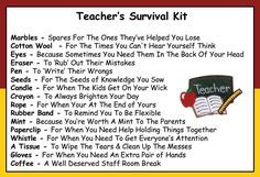 Teacher Survival Kit In A Can. Humorous Novelty Fun Gift - Thank You/Thankyou/Birthday/Christmas/End of Year/Term Present Card All In One. Customise Your Can Colour.: Amazon.co.uk: Kitchen Home