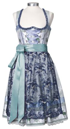 Pretty, blue Hochzeitsdirndl. My favorite piece is the apron.