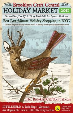 Very cool Holiday craft sale poster