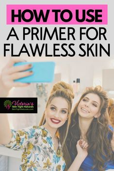 The only time you want to see a pancake should be on a plate, not on your face! Stop pancake foundation horror! Find out how to get smooth, flawless skin, the appearance of smaller pores, and less wrinkles. It's all about how to use a primer. #howtouseaprimer #makeupforselfies #primertips #skincare #skincaretips #flawlessskin #flawlessskincare #skincarenaturals