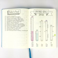 bujo finance books to read savings goals travellers notebook journal diy insert Bullet Journal Guide, Planner Bullet Journal, Bullet Journal Spreads, Bullet Journal Books, Bullet Journal Layout, Journal Pages, Bullet Journal Savings Tracker, Bullet Journal To Read List, Bullet Journal Modules