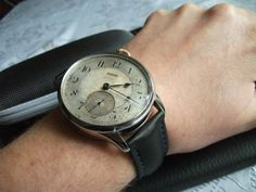 Omega Drivers anno 1908. Antique movement in brand new, custom made Stainless Steel case ... http://www.ebay.com/itm/261178157518