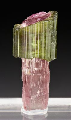 Watermelon Tourmaline scepter -