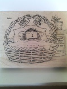 """#HouseMouse by #Stampendous """"Quick Recovery"""" WM Rubber Stamp  http://www.ebay.com/itm/262366860688?ssPageName=STRK:MESELX:IT&_trksid=p3984.m1555.l2649"""