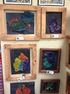 Fairy Dust Teaching Kindergarten Blog: A Reggio Inspired Classroom: Painted leaves in frames