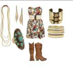 Perfect for a country concert ☺ (outfit idea)