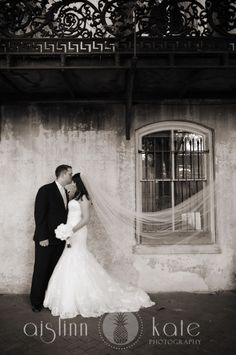 black and white wedding  bride and groom