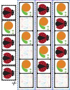 Spring Bugs AB Pattern Cards | 15 Cards