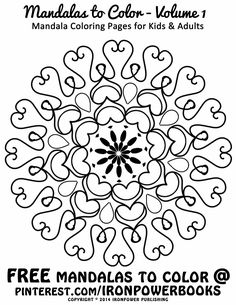 Easy Mandala Coloring Pages For Kids