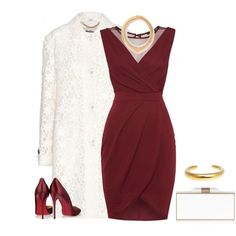 A fashion look from December 2014 featuring TFNC dresses, Burberry coats and Christian Louboutin pumps. Browse and shop related looks.