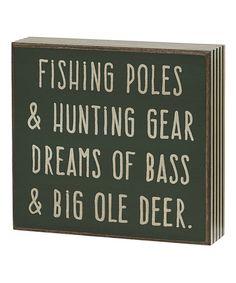 Look at this #zulilyfind! 'Big Ole Deer' Box Sign by Collins #zulilyfinds