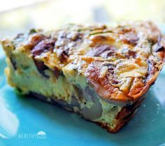 Mushroom Frittata Shared on https://www.facebook.com/LowCarbZen | #LowCarb #Breakfast #Brunch #Frittata