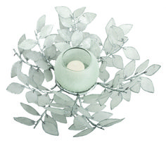 "Decorative Accessory, CH5SL, 17"" Silver Capiz Leaf Centerpiece / by Pearl Dragon Collections #pearldragon #interiordesign #style #design #homedecorations #inspiration #capiz #classic #home #interior #room #accessories #patterns #colors #decorations #decor #homedecor #fish #tealights #candles #candleholder #leaf #tree #lights"