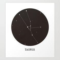 Taurus Star Constellation Art Print by Clarissa Di Nicola | Society6