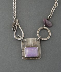 Hooked Necklace - Purple Charoite by MaggieJs