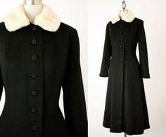 60s Vintage Black Wool Full Length Princess Coat / by decades, $260.00