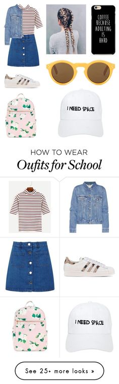 """""""back to school vibes"""" by neondots on Polyvore featuring Miss Selfridge, Acne Studios, adidas Originals, CÉLINE and Nasaseasons"""