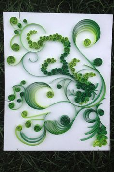 FERN GULLY artwork paper art quilling by PaperLiberated on Etsy