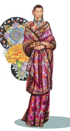 Indian Style, Funny Art, Indian Fashion, Cool Art, Vogue, Bohemian, Art Prints, Art Impressions, India Fashion