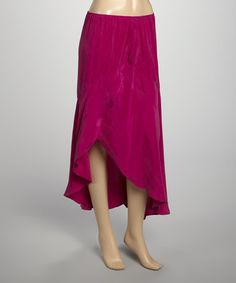Take a look at this Festival Fuschia Kingston Hi-Low Skirt by ecoSkin on #zulily today!