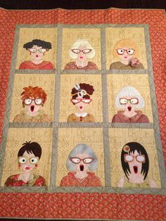 Quilter's Yearbook completed by Julie Love Cute Quilts, Mini Quilts, Bean Bag Sewing Pattern, Plus Quilt, Sewing Circles, Doll Quilt, Quilted Wall Hangings, Barn Quilts, Applique Quilts