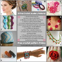 Free Crochet Pattern Friday 20 Jewellery Crochet Patterns @OombawkaDesign