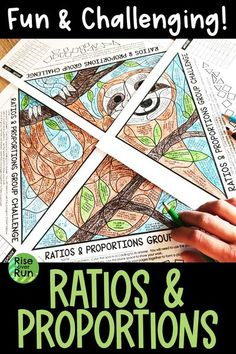 6th grade math coloring activity to practice writing ratios and solving real world proportional relationships. Students loves this fun lesson, and the rigorous problems will make them think!