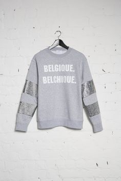BELCHIQUE SWEATER - GREY + WHITE FONT | O'Rèn Official