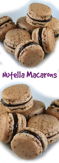 Nutella Macarons #CompleteRecipes #recipe #recipes #food #foodgasm #cleaneating #healthyfood #healthy #healthyrecipes #nutella#macarons