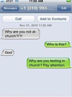 Back at you God!