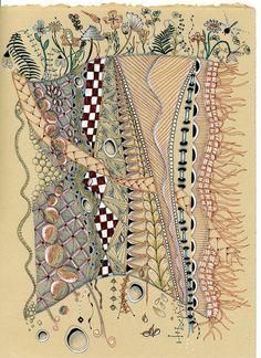 Zentangle inspired Valencis, the world beneath the world