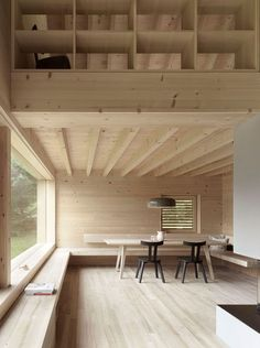Fragments of architecture — House on Tschengla / Innauer-Matt Architekten . Architecture Design, Contemporary Architecture, Building Architecture, Sustainable Architecture, Dining Corner, Wood Interiors, Wooden House, Dining Room Design, Cabana