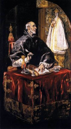 "El Greco: St. Idelfonso"",1607. (National Gallery of Art, Washingon, DC, USA.) http://www.nga.gov/content/ngaweb.html"