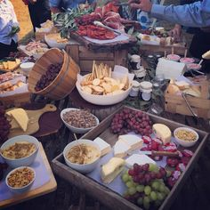 Grazing table at #tomandkirst wedding celebration ... Delicious!