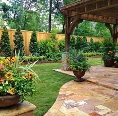 French Meets Greek Backyard Garden Landscape | Inspiring Backyard Garden Design And Landscape Ideas