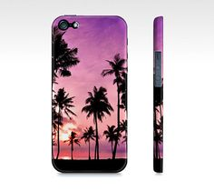 Pretty Pink Ocean Sunset & Palm Trees Iphone 5 Case  by SuprCases, $29.95