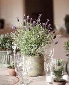 lavender centrepiece - love the rustc feeling