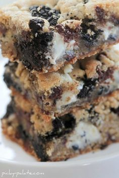 double cookies and cream kiss cookie bars.  These were so delicious, but they got hard after they cooled completely.  Maybe use my usual cookie base instead.