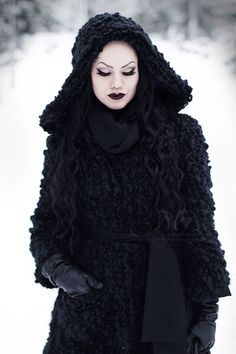 gothic wonderland.wonderful entrend autumn winter 2014 hooded cape coat in textural wool knitted grimm and fairy fashion style fairytale cloak for all good snow whites and black riding hoods