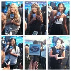 The girls were riding on Cloud 9 after their Diva performances last night. I caught up with them in the Press Tent after the show. #idolgirlpower!  Relive their performances again here: http://www.americanidol.com/videos/season_12/season_12_performances/