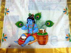 Kerala Mural Painting, Tanjore Painting, Krishna Painting, Krishna Art, Baby Krishna, Dress Painting, Fabric Painting, Fabric Art, Diy Painting