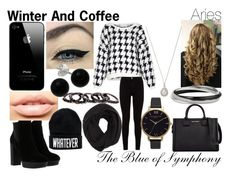 """Winter and Coffee-Aries"" by blueofsymphony ❤ liked on Polyvore featuring American Vintage, 7 For All Mankind, Hogan, Karl Lagerfeld, J.Crew, MDMflow, Bridge Jewelry, Olivia Burton and Free Press"
