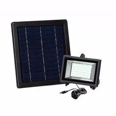 Lámpara Solar 60 Leds Para Exteriores Y Jardín Panel Solar - $ 879.00 en Mercado Libre