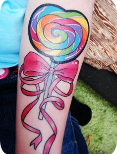 colorful knot bow #ink #tatoo IDK that I would get it but sure is colorful and fun!!!!